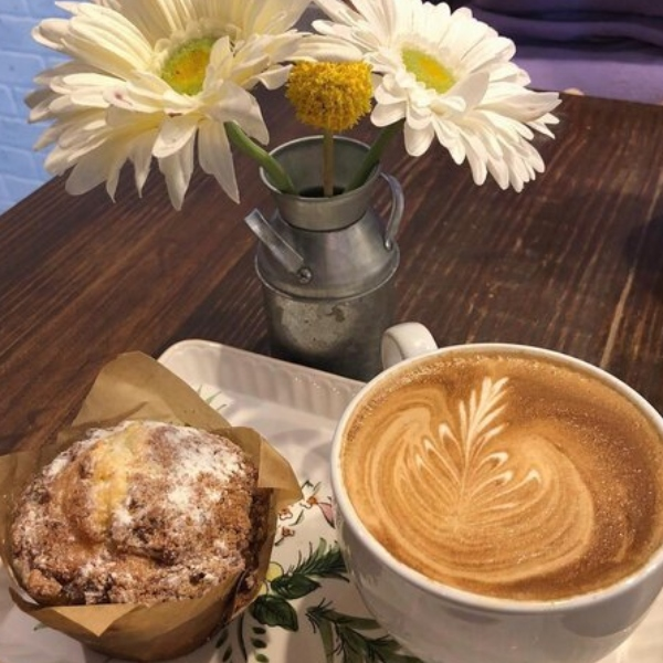 Coffee and a muffin from 60 Beans Cafe in Jefferson City