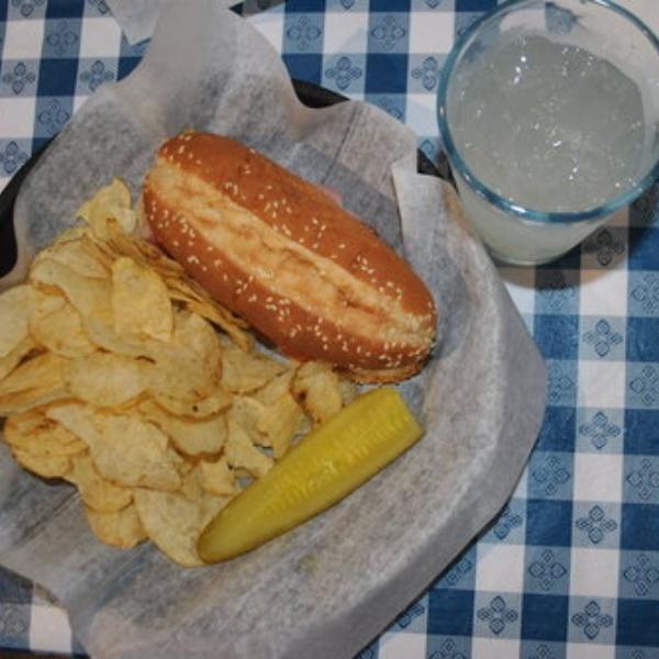 sandwich and chips from Dandridge Brewing company in downtown dandridge, tn