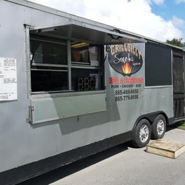 outside of the grill billy smoke bbq food truck from jefferson county