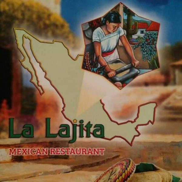 front of the menu from la lajita mexican restaurant