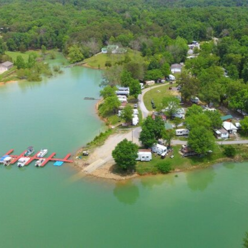 inspiration point camp and boat dock in dandridge tn