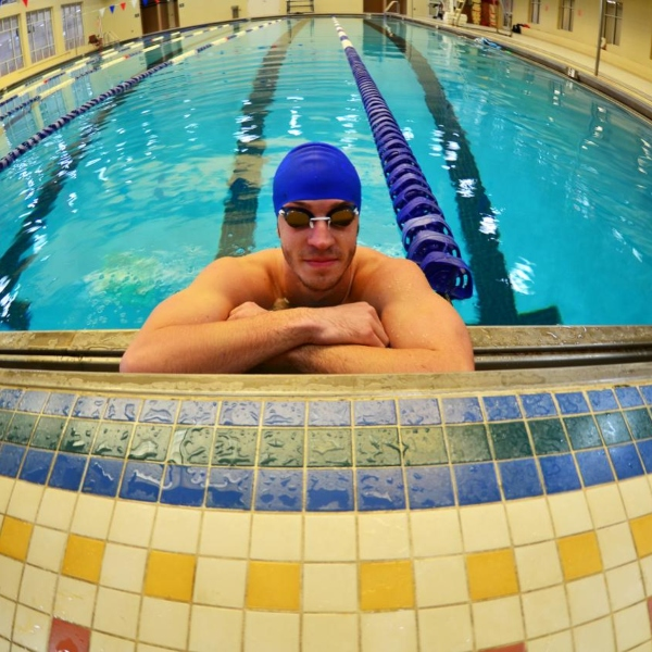 swimmer in the pool at Carson Newman University Maddox Student Activity Center