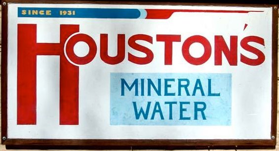 Houston's Mineral Water Sign
