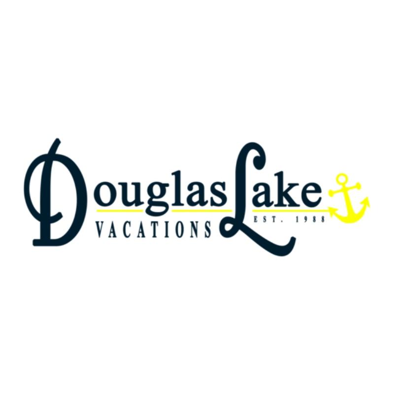 logo for douglas lake vacations