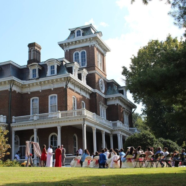 Special event taking place in front of glenmore mansion
