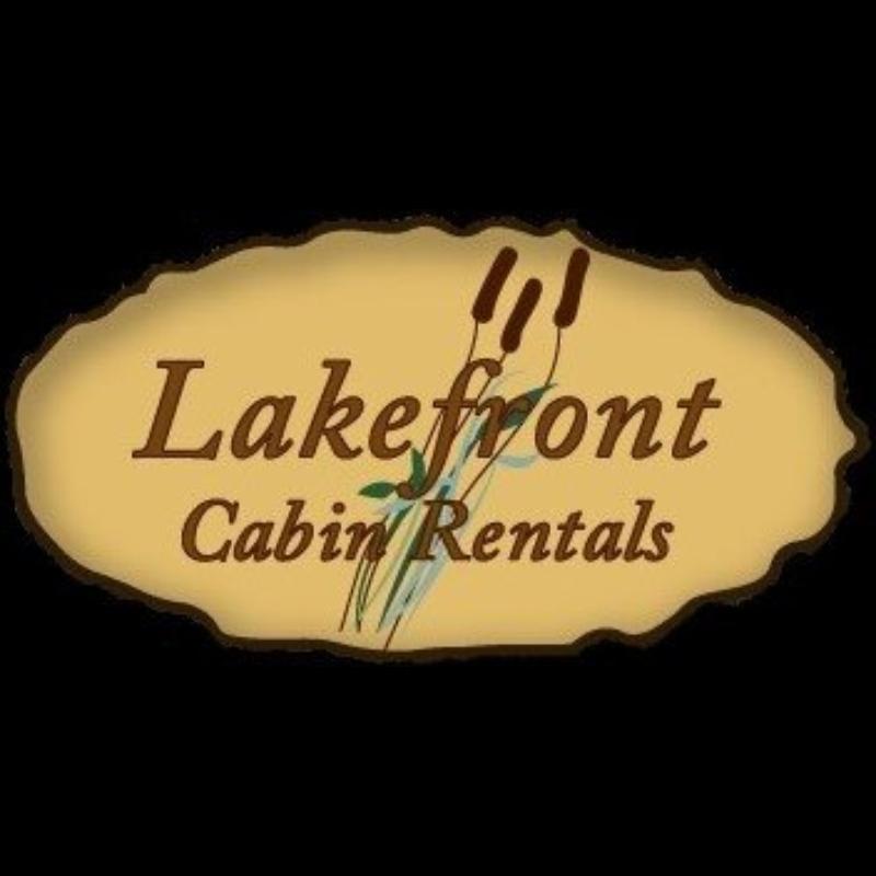logo for lakefront cabin rentals