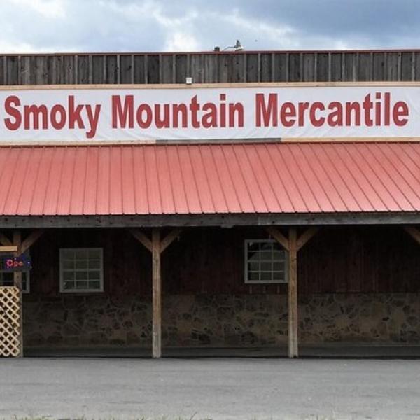 Front of Smoky Mountain Mercantile.