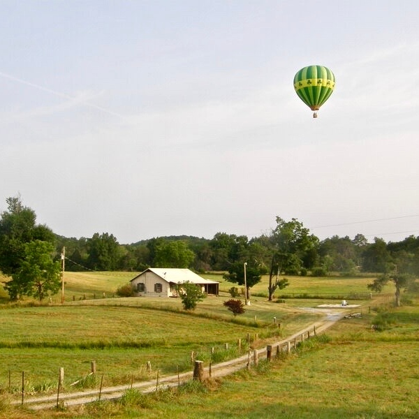what's up ballooning hot air balloon floating over east tennessee