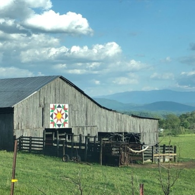 barn with a quilt square in the rural area of east tennessee in jefferson county