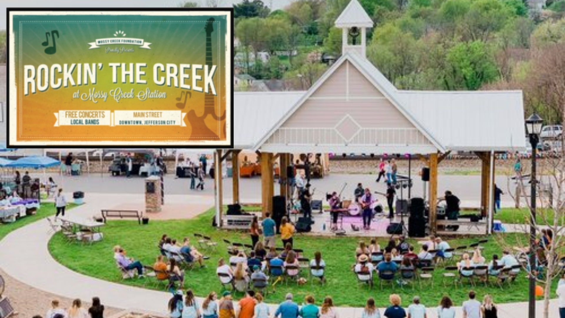 rockin the creek summer series music festival event in jefferson city tennessee